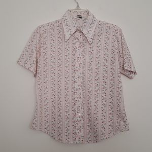 Vintage Miss Holly Floral Button Down Shirt